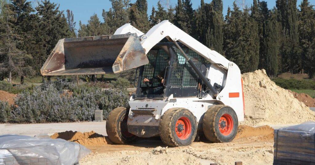 skid steer loader on a work site